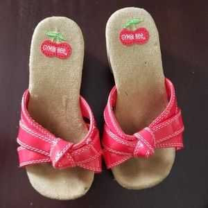 Wooden cherry shoes
